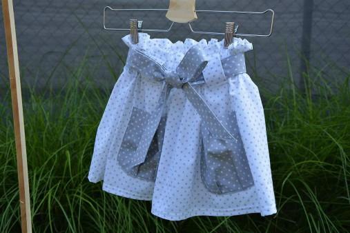 Dievčenská sukňa Nica s vreckami a opaskom