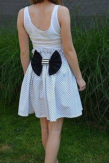 Detské oblečenie - Dievčenská sukňa Mila Dot s mašľou - 10820177_