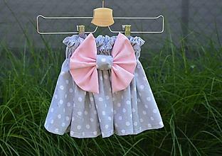Detské oblečenie - Dievčenská sukňa Nica s mašľou - 10820186_