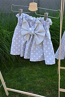 Detské oblečenie - Dievčenská sukňa Nica s mašľou - 10820308_