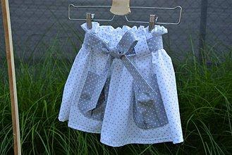 Detské oblečenie - Dievčenská sukňa Nica s vreckami a opaskom - 10820364_