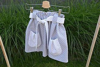 Detské oblečenie - Dievčenská sukňa Nica s vreckami a opaskom - 10820422_