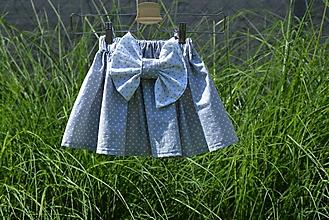 Detské oblečenie - Dievčenská sukňa Nica s mašľou - 10820434_