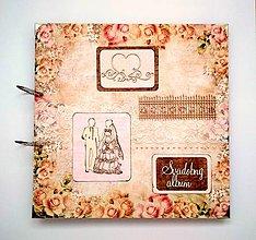 Papiernictvo - Vintage svadobný album MAXI 30x30 cm - 10820688_