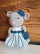 Hračky - Myška v šatách so sieťovkou - 10821213_