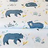 Medvede, extra kvalitný 100 % bavlnený satén, šírka 150 cm