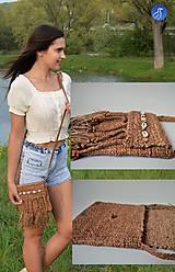 Kabelky - Kožená taška v africkom štýle - 10820160_