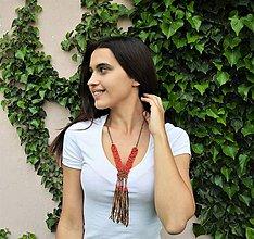 Náhrdelníky - Kožený náhrdelník, šperky v egyptskom štýle - 10821882_