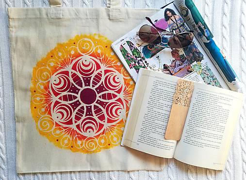 Plátená taška/ Slnečná mandala