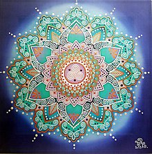 Obrazy - Mandala uzdravenia tela aj duše - 10821219_
