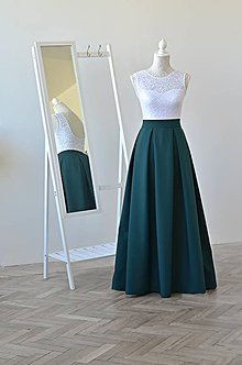 Sukne - Maxi dlhá sukňa s vreckami - 10820237_
