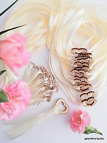 """Pierka - svadobné pierko""""Špulka"""" séria champagne - 10821517_"""