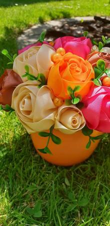 Dekorácie - Kytička v oranžovom - 10820819_