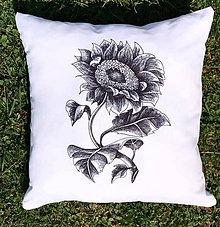 Úžitkový textil - Vintage slnečnica / Poťah - 10820471_