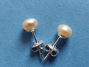 Náušnice - Riečne perly ružové v striebre  Ag 925 - RP4 - 10820835_