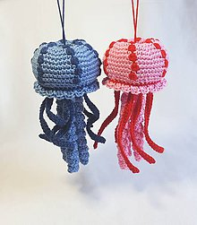 Návody a literatúra - Háčkovaná medúza, chobotnica - návod - 10820892_