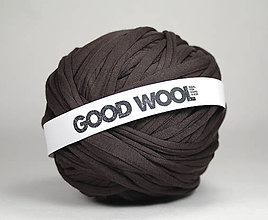 Materiál ručne robený - Tričkovlna GOOD WOOL... Hnedá (bambus) - 10820425_