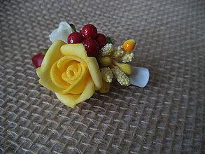 Ozdoby do vlasov - ružičky na pinetke - 10821158_