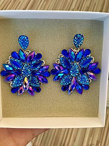 Náušnice - Náušnice - Blue crystals - 10820462_