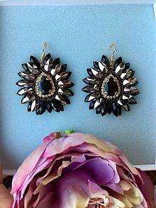 Náušnice - Náušnice - Black elegance - 10820473_