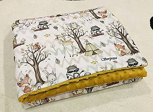 Textil - Minky set lesní kamaráti - 10821779_