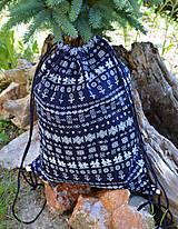 Vak / batoh / ruksak - modrý čičmany