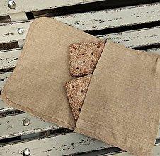 Úžitkový textil - Ľanová taštička - 10820608_