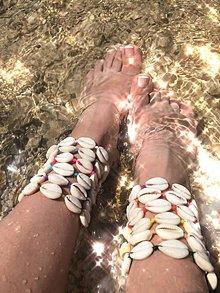Náramky - Mušlový náramok na nohu, na členok *VÝPREDAJ* - 10821704_