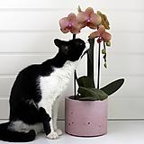 Nádoby - Betonovy kvetinac - staroruzova - 10821776_