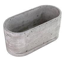 Nádoby - Ovalny betonovy kvetinac - 10821794_