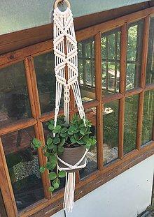 Dekorácie - Macrame držiak na kvetináč II - 10819312_