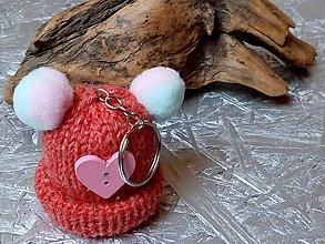 Kľúčenky - kľúčenka...   červená čiapočka so srdiečkom - 10821833_