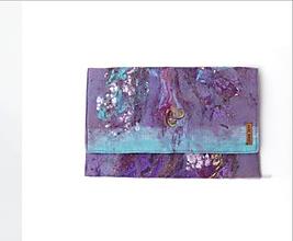 """Kabelky - Arttexová kabelka """"Fialkové nebo"""" - 10821356_"""