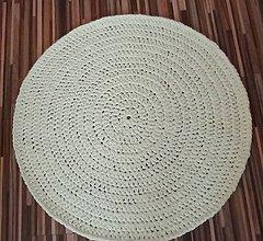 Úžitkový textil - Handmade koberček okrúhly z trikotážnej priadze - 10821053_
