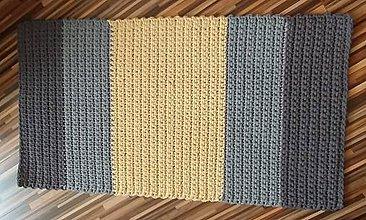 Úžitkový textil - Handmade koberček z kvalitných šnúr priemeru cca 4 mm - 10821092_