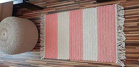 Úžitkový textil - Handmade koberček z kvalitných šnúr priemeru cca 4 mm - 10821099_