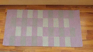 Úžitkový textil - Handmade koberček z kvalitných šnúr priemeru 3 mm - 10821101_