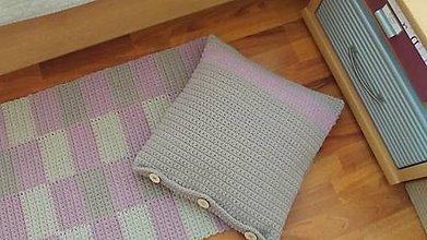 Úžitkový textil - Handmade  vankúš  z kvalitných šnúr priemeru 3 mm - 10821144_