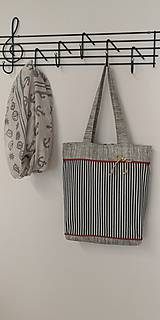 Nákupné tašky - Plátenka Srdcom námorníčka - 10821371_