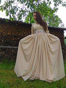 Šaty - Pieskové šaty - 10820582_