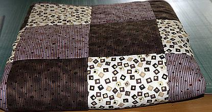 Úžitkový textil - Patchworkový prehoz - 10819478_