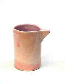 Nádoby - mliečnik porcelán (Ružová) - 10820470_