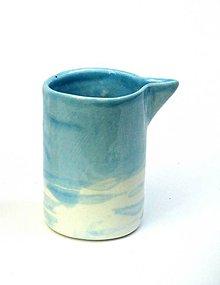 Nádoby - mliečnik porcelán (Modrá) - 10820472_
