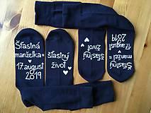 Obuv - Maľované ponožky pre ženícha a nevestu - 10819501_