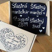 Obuv - Maľované ponožky pre ženícha a nevestu - 10819510_
