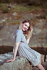 Šaty - Letné šaty šedé - 10819721_