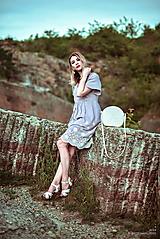 Šaty - Letné šaty šedé - 10819724_