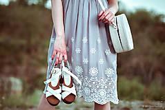 Šaty - Letné šaty šedé - 10819728_