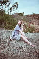 Šaty - Letné šaty šedé - 10819735_