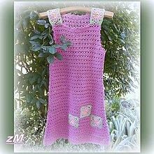 Detské oblečenie - Šaty ružový púčik. - 10819263_